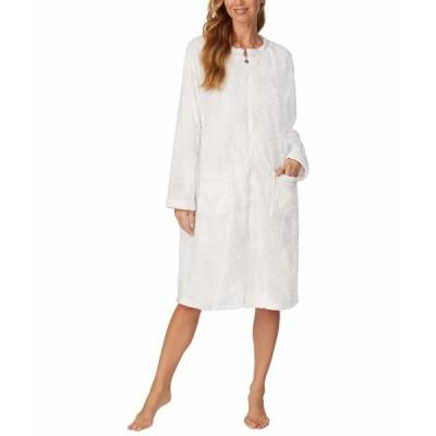 エイレーンウェスト ナイトウェア アンダーウェア レディース Cozy Plush Long Zip Robe White