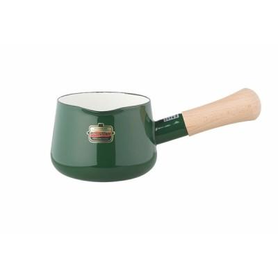 富士ホーロー ソリッド 12cm ミルクパン グリーン SD-12M・G
