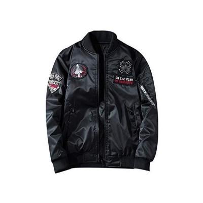 メンズ ミリタリー ジャケット中綿 両面着 MA1 フライトジャケット ジャンパー 秋春冬 ブルゾン カジュアル 刺繍 WA541