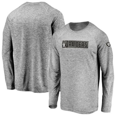 メンズ スポーツリーグ フットボール Men's Fanatics Branded Gray Las Vegas Raiders In the Zone Long Sleeve T-Shirt Tシャツ