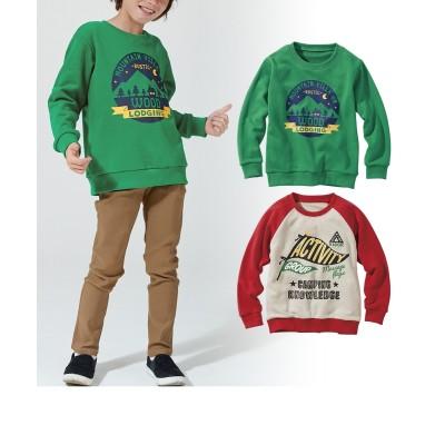 春秋冬使える柄が選べる裏毛トレーナー2枚組(子供服 男の子) (トレーナー・スウェット)Kids' Sweatshirts