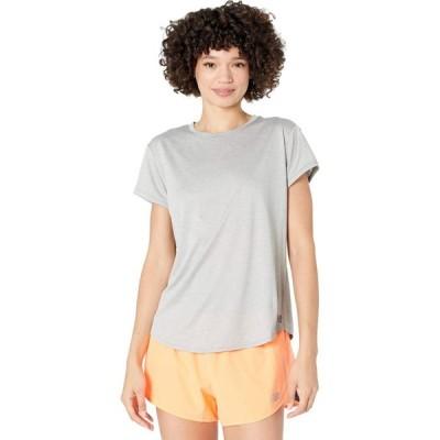 ニューバランス New Balance レディース Tシャツ トップス Sport Core Heather Tee Athletic Grey