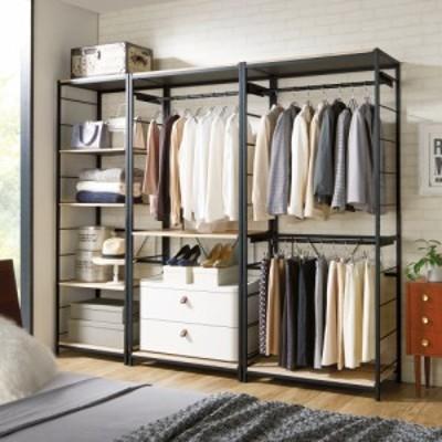 家具 収納 衣類収納 パイプハンガー ブルックリンスタイルハンガーラック ハンガー2段タイプ 幅60cm 593017
