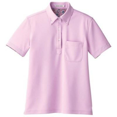 ボンマックス レディス吸水速乾ポロシャツ(花柄B) ラベンダー M FB4019L(直送品)
