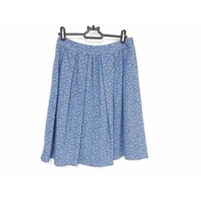 トゥービーシック TO BE CHIC スカート サイズ40 M レディース 美品 - ライトブルー×アイボリー ひざ丈【中古】20200801