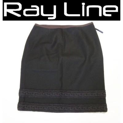Nicole Miller ニコル ミラー スカート ブラック×ブラウン サイズ4 古着 美品 中古 s02