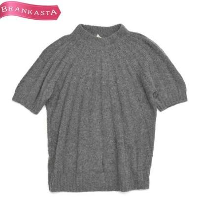 PRADA プラダ ニットセーター ハイネック 半袖 42 M相当 シンプル グレー \期間限定 特別セール/22oh99