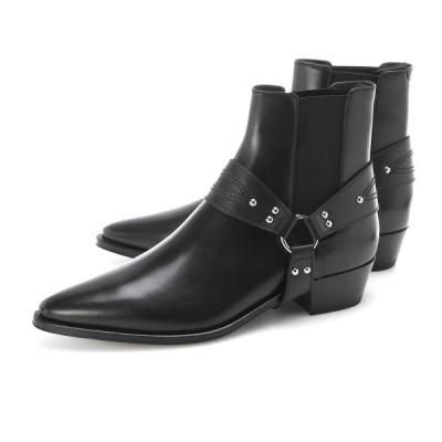セリーヌ CELINE ブーツ CELINE CAMARGUE CHELSEA BOOT WITH HARNESS 大きいサイズあり ブラック メンズ 34059-3393c-38no