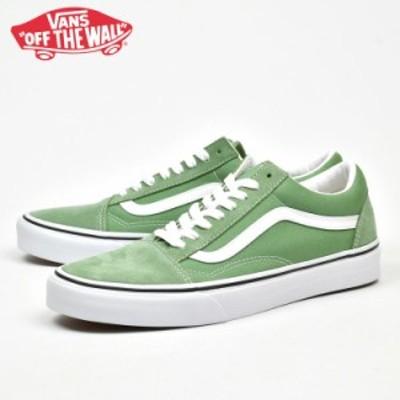 バンズ オールドスクール グリーン VANS OLD SKOOL SHALE GREEN/TRUE WHITE ヴァンズ スケートシューズ vn0a3wkt4g6