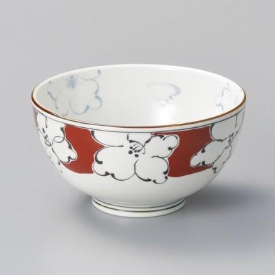 陶雅 赤絵濃花軽量4.0多用碗