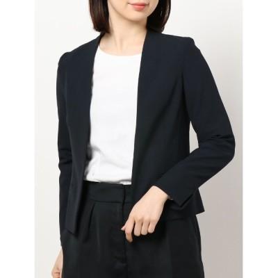 TONAL / 【セットアップ可能】ウールライクストレッチコンパクトジャケット WOMEN ジャケット/アウター > ノーカラージャケット
