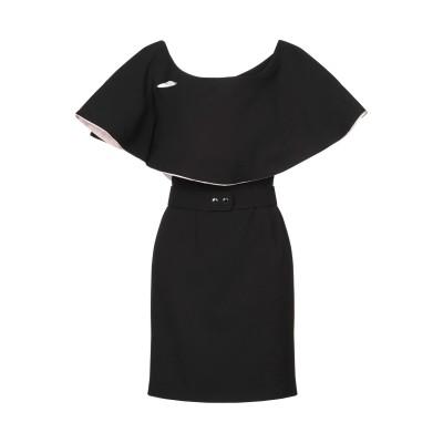 FABIANA FERRI ミニワンピース&ドレス ブラック 44 ポリエステル 96% / ポリウレタン 4% ミニワンピース&ドレス
