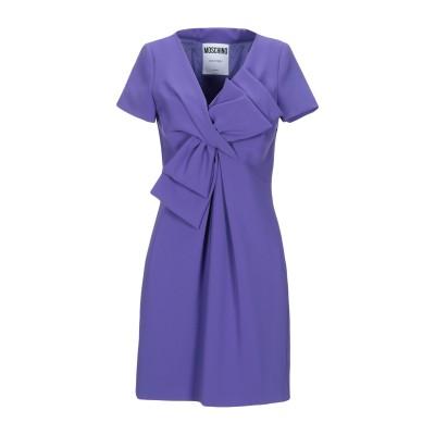 モスキーノ MOSCHINO ミニワンピース&ドレス パープル 42 トリアセテート 64% / ポリエステル 36% ミニワンピース&ドレス