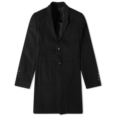 リック オウエンス Rick Owens メンズ コート アウター Single Breasted Wool Overcoat Black