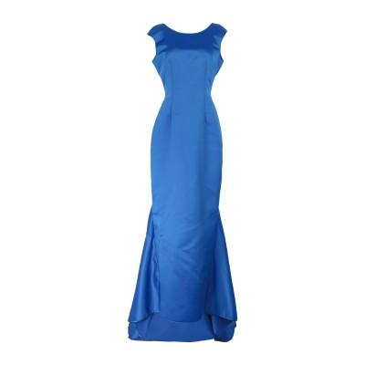 LANACAPRINA ロングワンピース&ドレス ブルー 42 ポリエステル 80% / コットン 20% ロングワンピース&ドレス