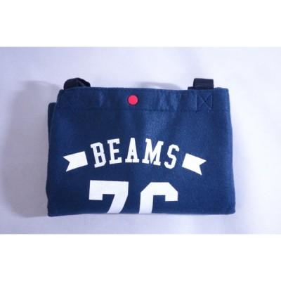 【 ビームス(BEAMS)】mini付録 特大フェルトバッグ(紺)《未使用》送料198円〈バッグ・他〉