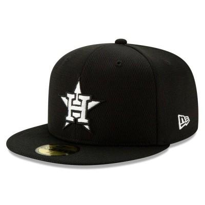 ニューエラ 帽子 アクセサリー メンズ Houston Astros New Era 2020 Batting Practice 59FIFTY Fitted Hat Black/White