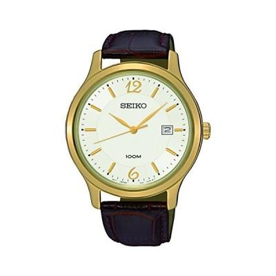 腕時計 セイコー メンズ SUR150P1 SEIKO SUR150P1,Men's Date,Stainless Steel Case,Leather Strap,Hardlex