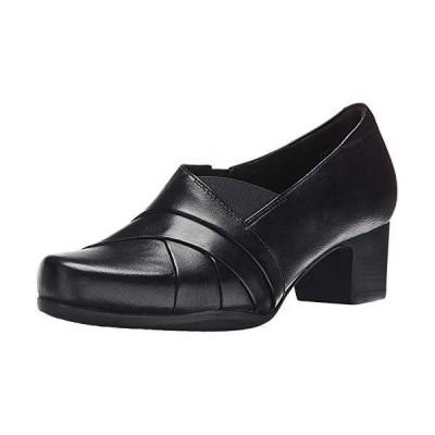 CLARKS Women's Rosalyn Adele, Black Leather, 9 BM US