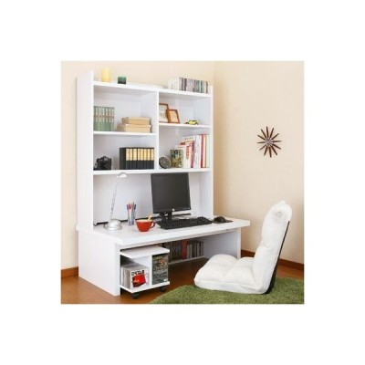 パソコンデスク ロータイプ 木製 2点セット 幅120 パソコン デスク おしゃれ シンプル 人気