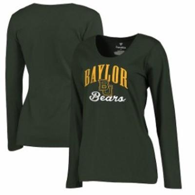 Fanatics Branded ファナティクス ブランド スポーツ用品  Fanatics Branded Baylor Bears Womens Green Plus Sizes Victory Script Long