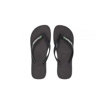 Havaianas ハワイアナス メンズ 男性用 シューズ 靴 サンダル Brazil Logo Flip Flops - Black/Black