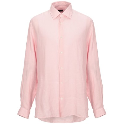 ZZEGNA シャツ ピンク XL リネン 100% シャツ