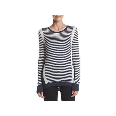 G.H. Bass & Co. Women's Lt. Wt. Space-dye Mix Sweater, Navy Water Combo, XL