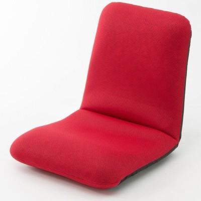 セルタン 座椅子 和楽チェア Mサイズ 幅430×奥行510〜850×高さ110〜470mm メッシュレッド (直送品)