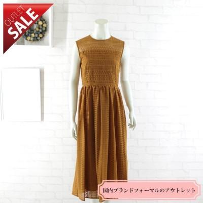 61%OFF 結婚式 二次会 ドレス ミモレ丈ミディ丈 |幾何学レースのミディ丈ドレス9号(オレンジ)