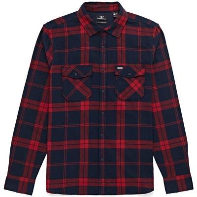 オニール O'Neill メンズ シャツ ネルシャツ トップス check flannel shirt Red Aop