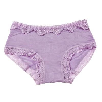 ラベダー 紫 レディース セクシーショーツ 上品なレース パンツ 下着 通気性 美尻 上品な 魅力感