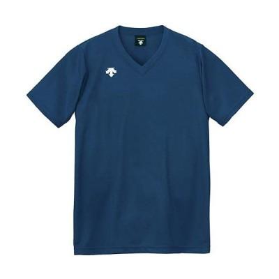 [デサント] バレーボール 男女兼用 V首半袖ゲームシャツ DSS-4321 NVY XO
