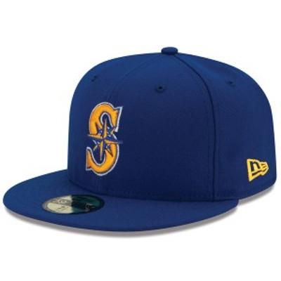 ニューエラ メンズ 帽子 アクセサリー Seattle Mariners New Era Alternate 2 Authentic On Field 59FIFTY Fitted Hat Royal