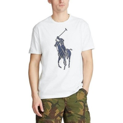 ラルフローレン メンズ Tシャツ トップス Big Pony Short-Sleeve Tee White