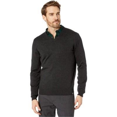ペリー エリス Perry Ellis メンズ ニット・セーター トップス End-On-End Feeder Stripe Long Sleeve Sweater Black