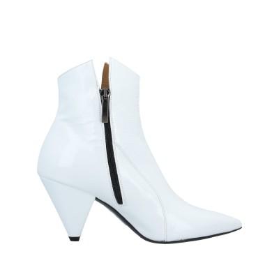 WO MILANO ショートブーツ ホワイト 39 革 ショートブーツ