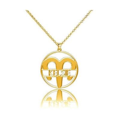 LoEnMe Jewelry シルバーメッキ スターリングシルバー ネームプレート 牡羊座 カスタム スコットレザー カ