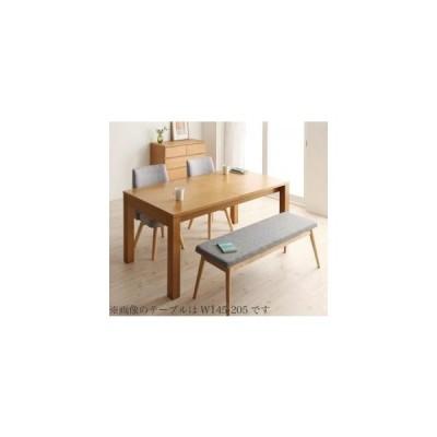 ダイニングテーブルセット 4人用 北欧デザインエクステンションダイニング 4点セット テーブル+チェア2脚+ベンチ1脚 W120-180
