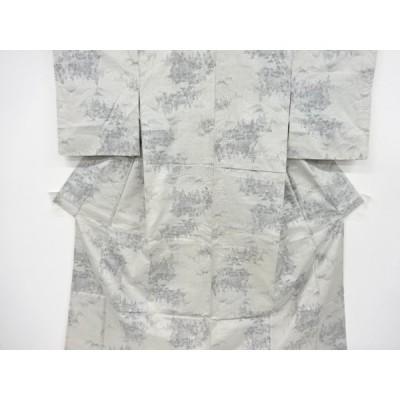 宗sou 家屋に樹木模様織り出し大島紬着物【リサイクル】【着】