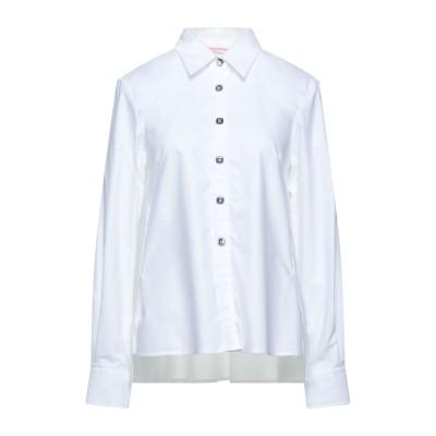 GUGLIELMINOTTI シャツ ホワイト 44 コットン 98% / ポリウレタン 2% / ポリエステル シャツ