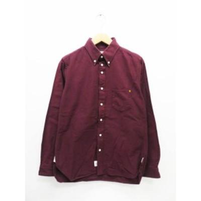 【中古】アナクロノーム anachronorm L/S BD cotton Shirt ボタンダウン シャツ 00 ワインレッド ● 210214 0008