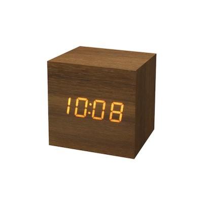 木目調LEDクロック リヒト S LED−113 ブラウン│時計 目覚まし時計 東急ハンズ