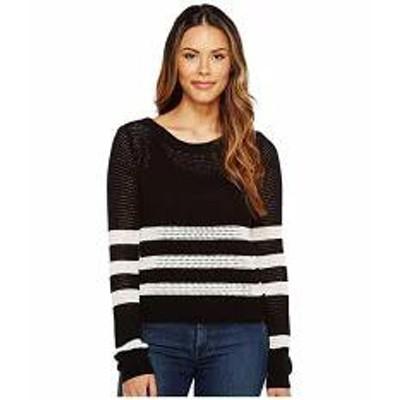 Splendid レディーストップス Splendid Stripe Pullover Black