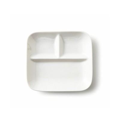 3つ仕切り FF ランチトレー ランチプレート 食器 おしゃれ 白 シンプル 定番 しきり 仕切り皿 日本製 陶器 磁器