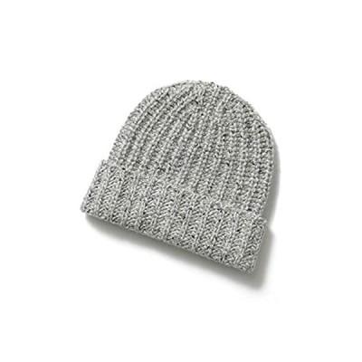 JOHNSTONS ジョンストンズ HAC2454 カシミヤ ニット帽 ニットキャップ リブ 帽子 ミックス編み カラー3色 HA0168/Light