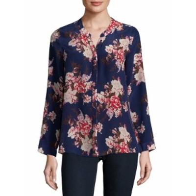 ジョイー レディース トップス シャツ Devitri Floral Long-Sleeve Silk Blouse