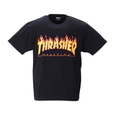 大きいサイズ メンズ THRASHER 半袖 Tシャツ ブラック 1278-1500-2 3L 4L 5L 6L 8L