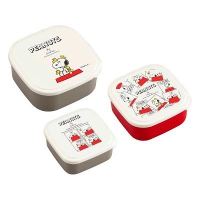 お弁当箱 シール容器 3個入 PEANUTS EVERYDAY SNOOPY ランチボックス ( スヌーピー 弁当箱 レンジ対応 キャラクター )