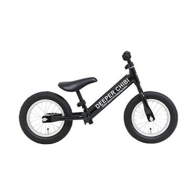 DEEPER ペダルなし自転車 DE-CHIBI-GT レース用ゴムタイヤ採用 キッズ 子供用自転車 ブラック